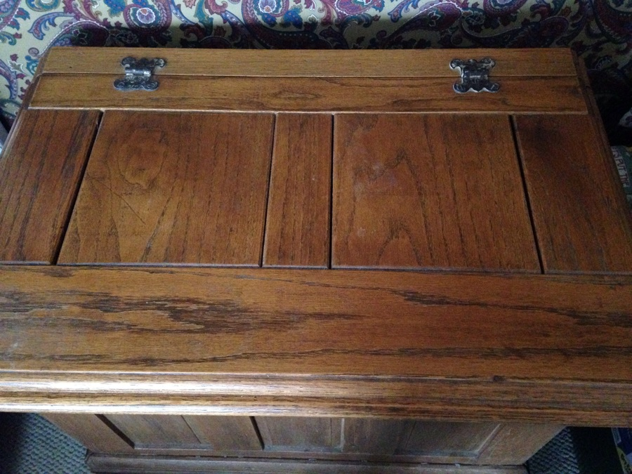 Antique Ice Box Chest Wondering Value Of Pictures