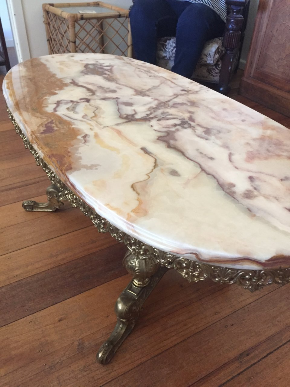How Much Is An Old Marble Coffee Table Worth My Antique