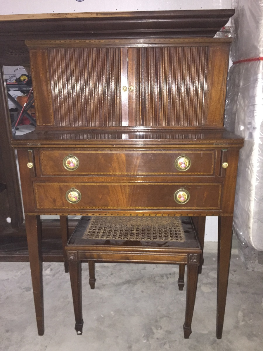 Genuine Mahogany Inc Desk 184 My Antique Furniture