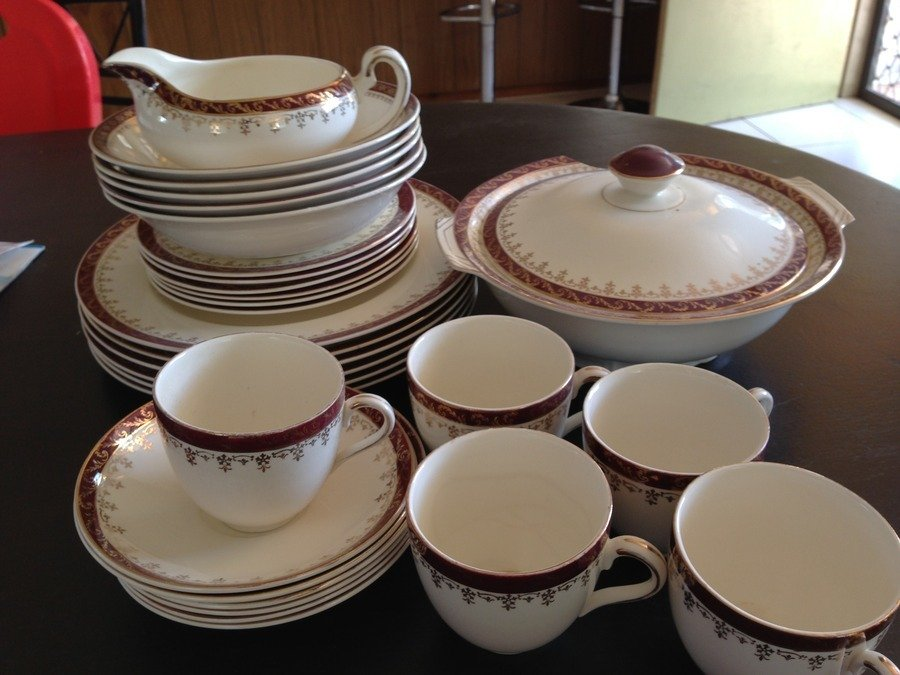 Alfred Meakin gold/burgundy china Joy 5 years ago & Alfred Meakin Gold/burgundy China | My Antique Furniture Collection