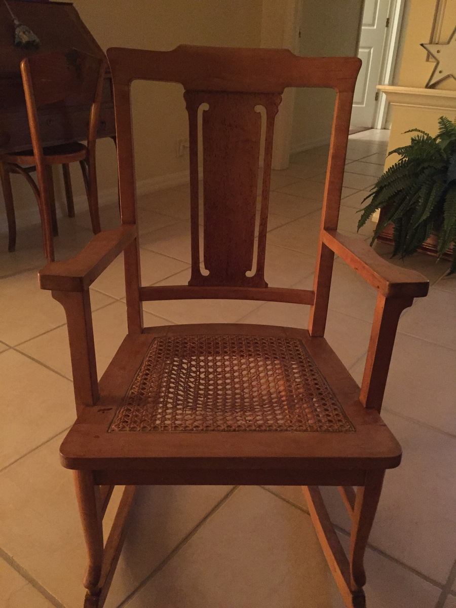 I Have A JS Johnson Small Cane Rocking Chair Wondering
