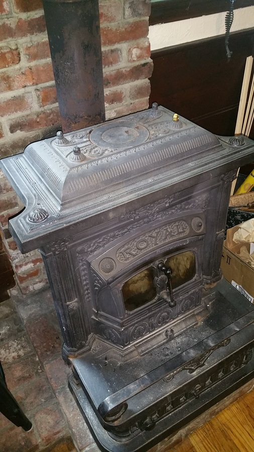 Cast Iron Wood Burning Stove My Antique Furniture Collection