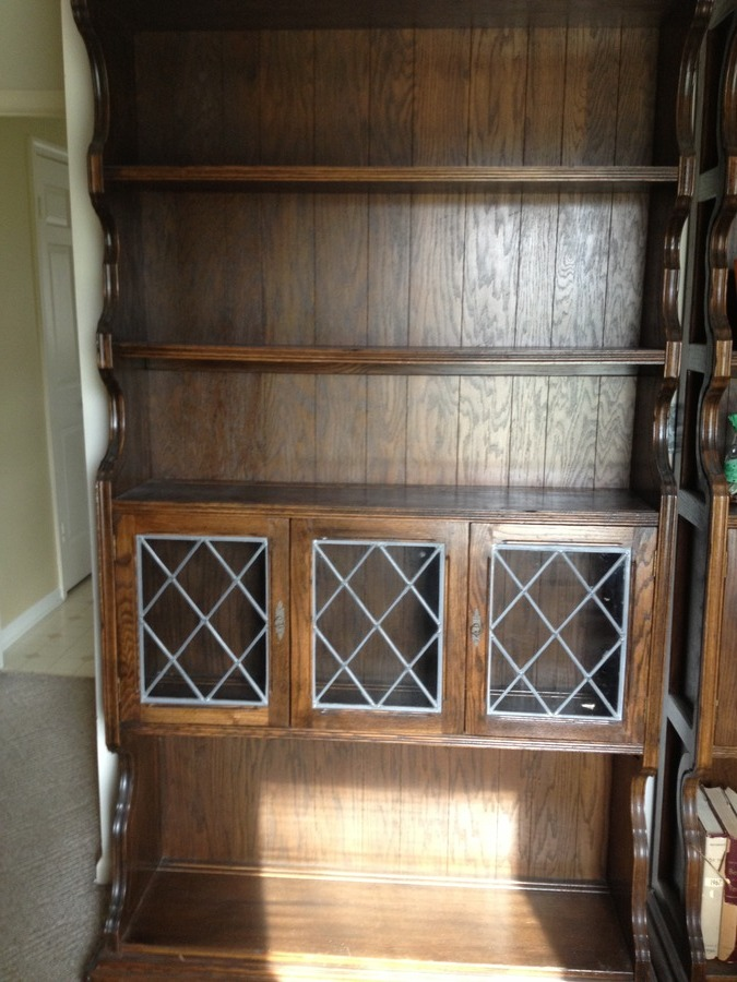 2 Ethan Allen Royal Charter Leaded Glass Bookcases My Antique Furniture Collection