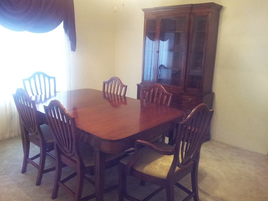 1948 Mt Airy Chair Company 8 Piece Dining Set Mahogany