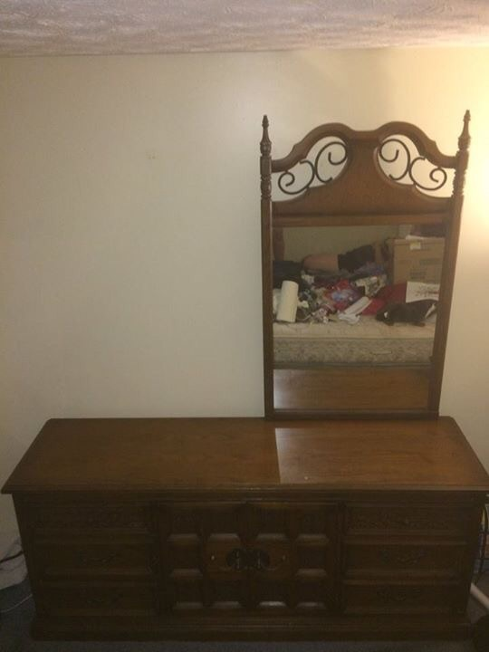 United Furniture Corp (Spanish Treasure Collection) Triple Dresser, Mirror  And 2 Matching Stands!   My Antique Furniture Collection