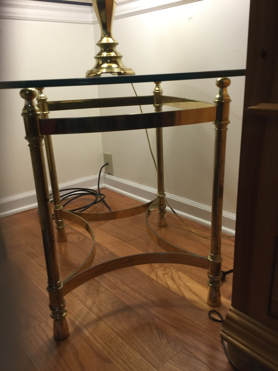 I Have A 1980 S Solid Brass And Glass Coffee Table And 2