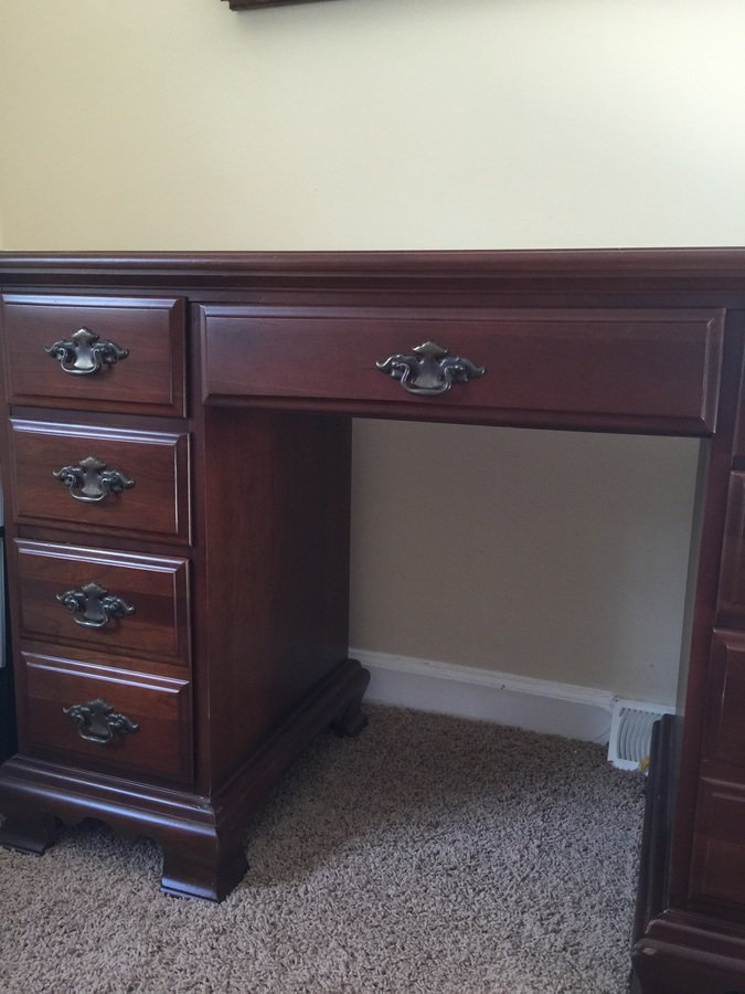 . I Have A Young Hinkle Seven Drawer Secretary  or Desk   It Has