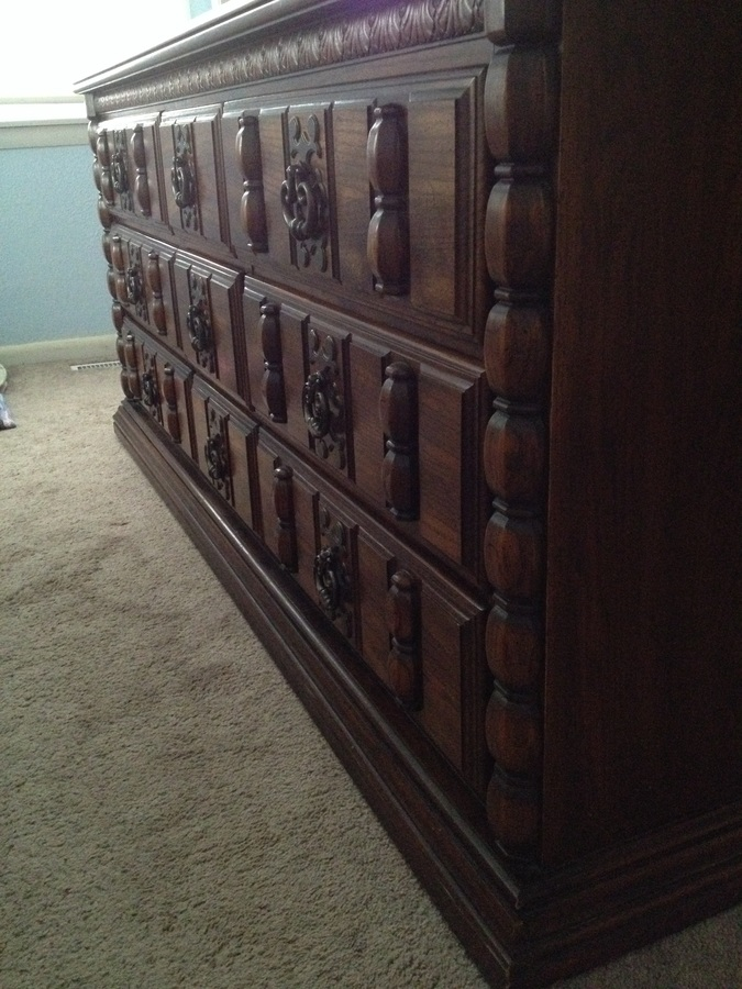 Or About When It Was Manufactured? Itu0027s In Good Condition (wear And Tear On  Surface, But Structurally Great), And Includes Two Night Stands, A  Headboard, ...