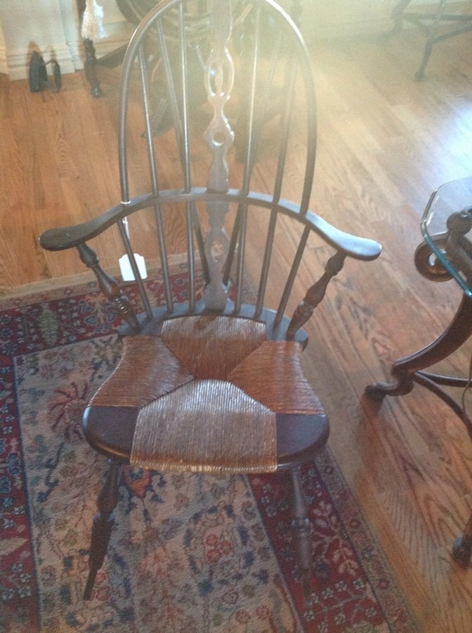 I Have A Windsor Rocking Chair With A Paper Label Quot Sikes