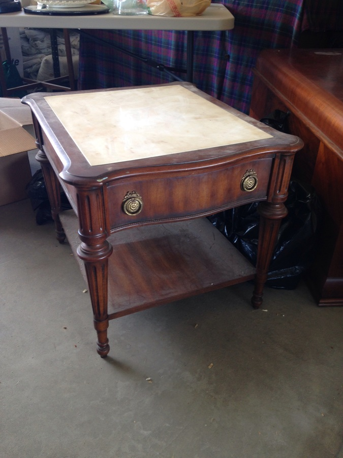 Antique Marble Top End Tables My Antique Furniture Collection