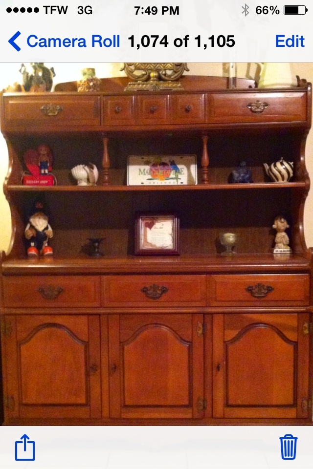 My Bassett Furniture Hutch My Antique Furniture Collection