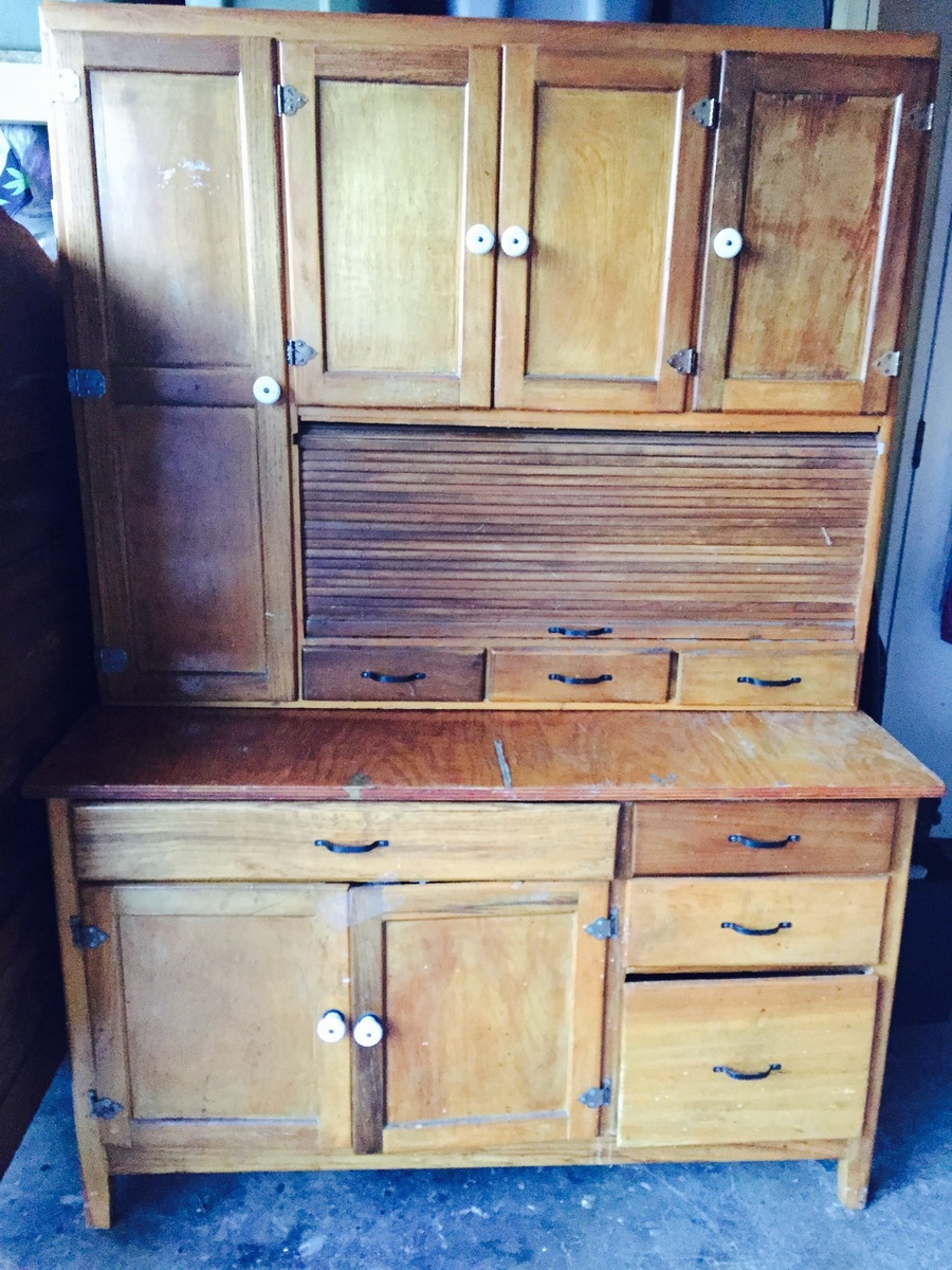 2 Piece Hutch First Pic With Top Half N Backside Of Bottom