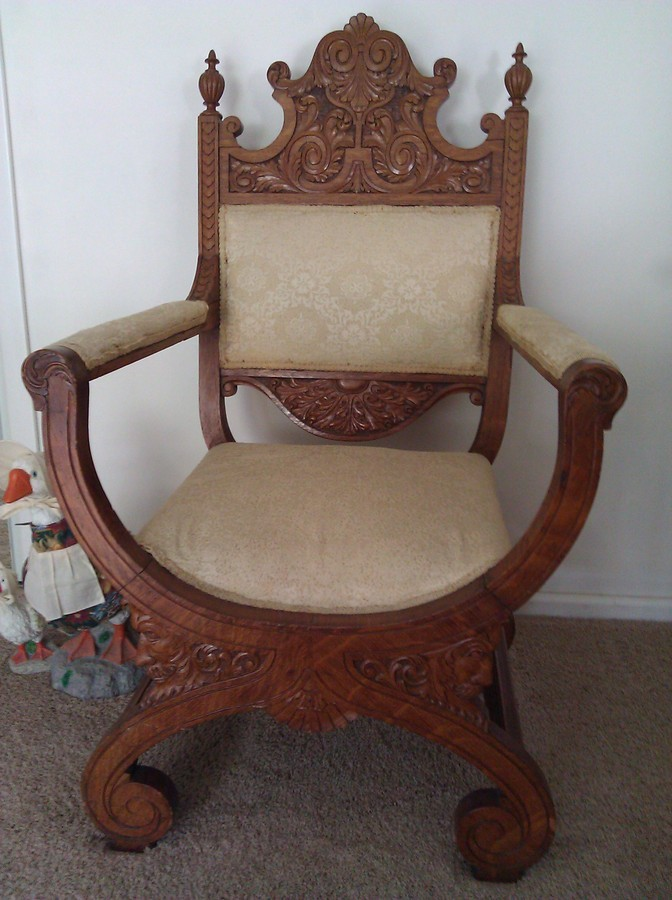 Antique Chair 2 Quot Old Man Wind Quot Carvings Under Seat My