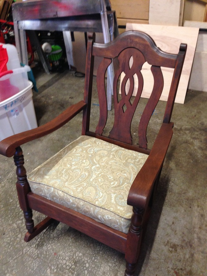 The Lady That Did The Upholstery For Me Says Its Probably About 75yrs Old.  Could That Be? Does Anyone Know Anything About This Chair Or The  Manufacturer?