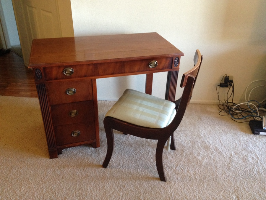 For Sale Cherry Mahogany Saginaw Expandaway Writing Table