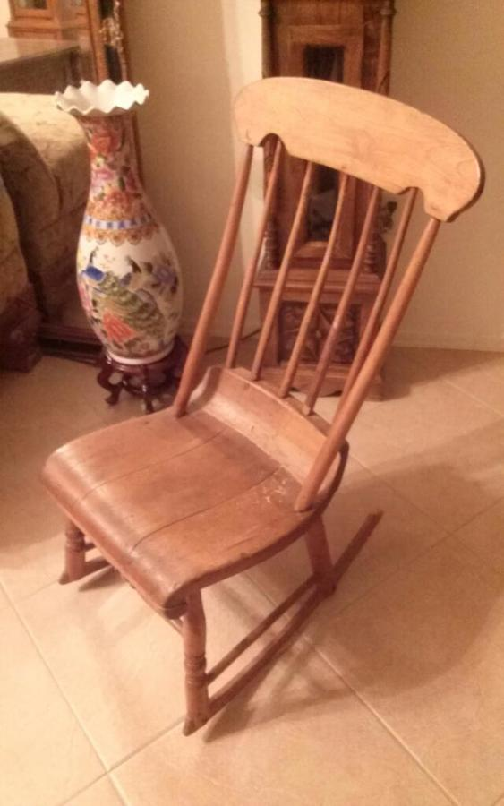 Walter Corey Rocking Chair My Antique Furniture Collection
