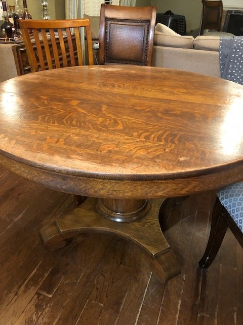 Hello I Just Purchased An Old Tiger Oak 48 Quot Round
