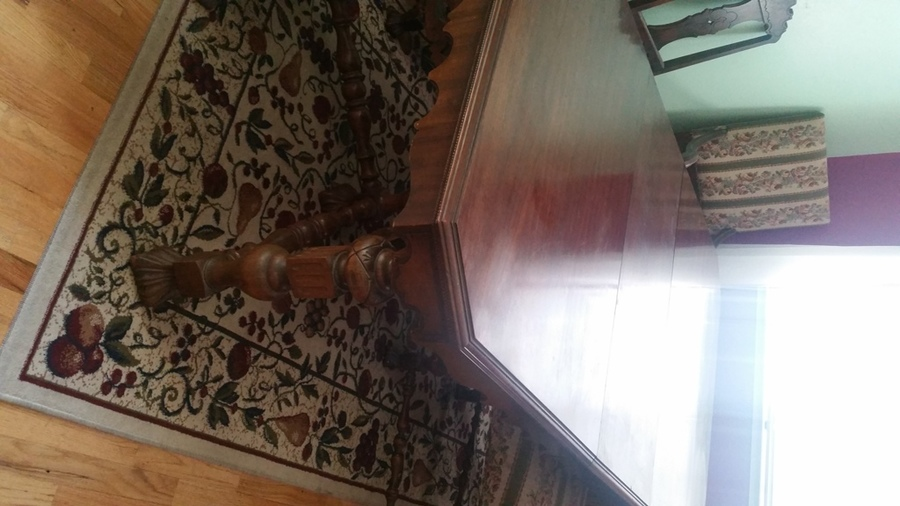 John M Smyth Table With 2 Leafs 6 Chairs My Antique