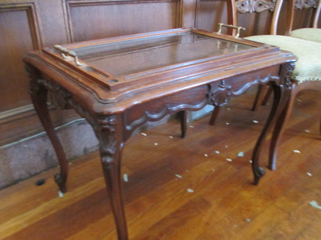 Chippendale Style Small Coffee Tea Table With Butler Tray