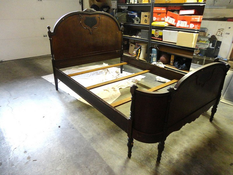 Antique Age Style Bed Frame From A Dumpster My