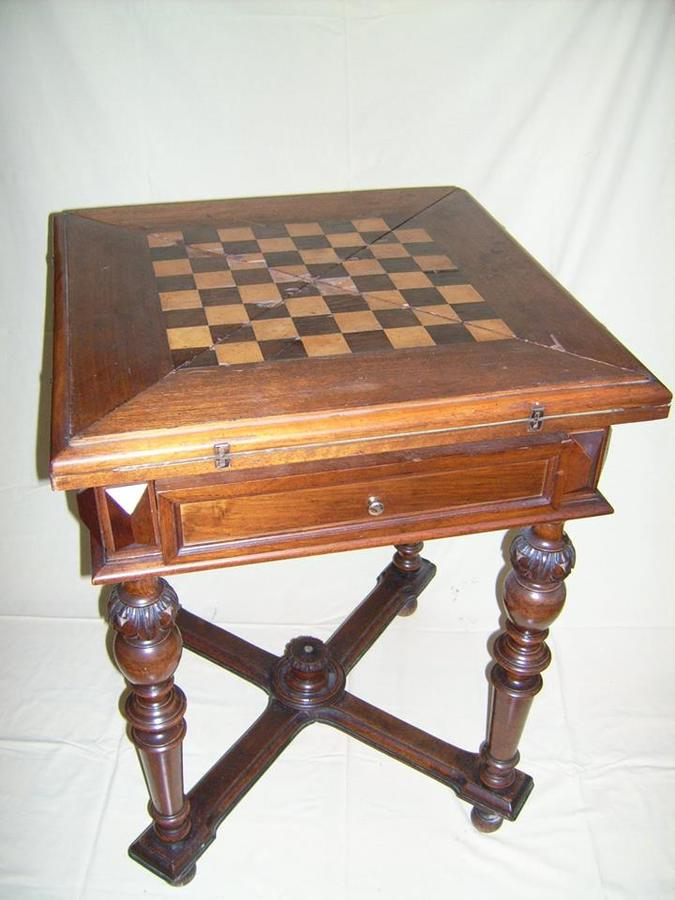 Antique Game Chess/Poker Table