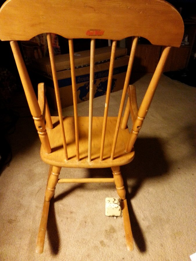 I Have A Childu0027s Rocking Chair Made By Oak Hill, Fitchburg Mass. It Has A  M... Guest 2 Years Ago