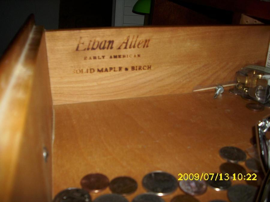 Identify Ethan Allen Early American Solid Maple Birch What