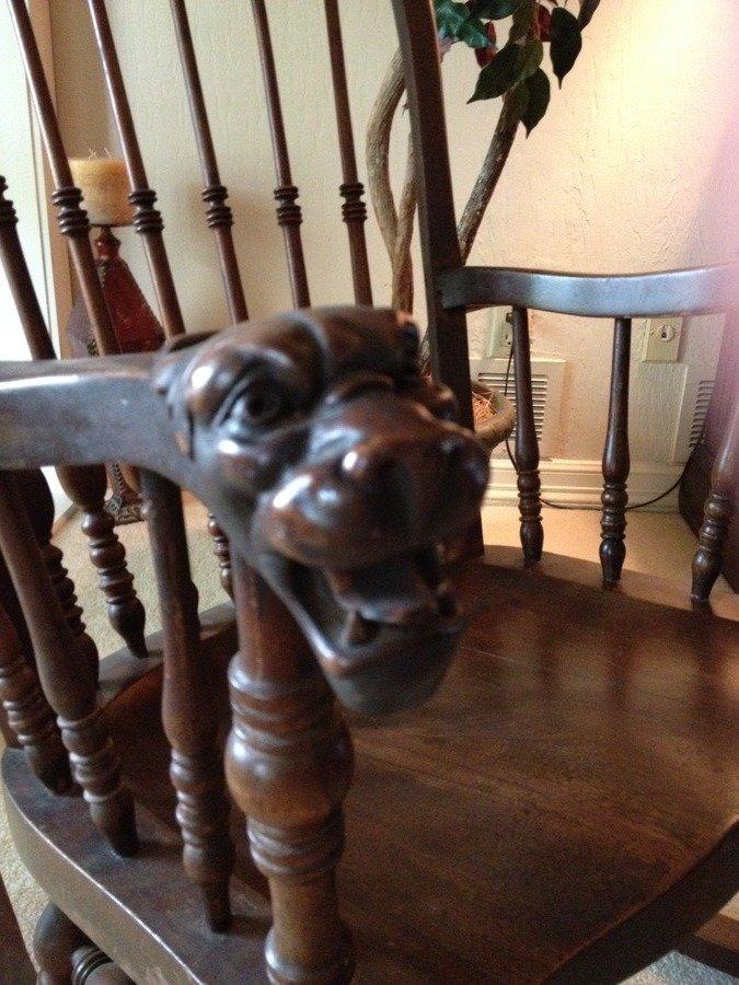 Lion Head Antique Rocking Chair My Antique Furniture