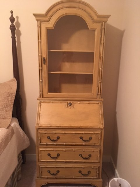Yellow Jasper Cabinet Secretary 802 Yellow | My Antique Furniture ...