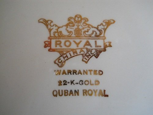 What Is A Set Of Warranted 22k Gold Royal China Dishes
