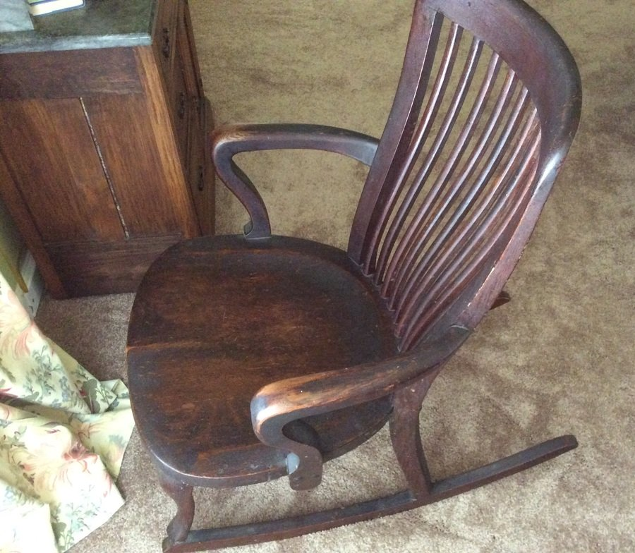 J S Johnson Furniture Company Rocking Chair My Antique