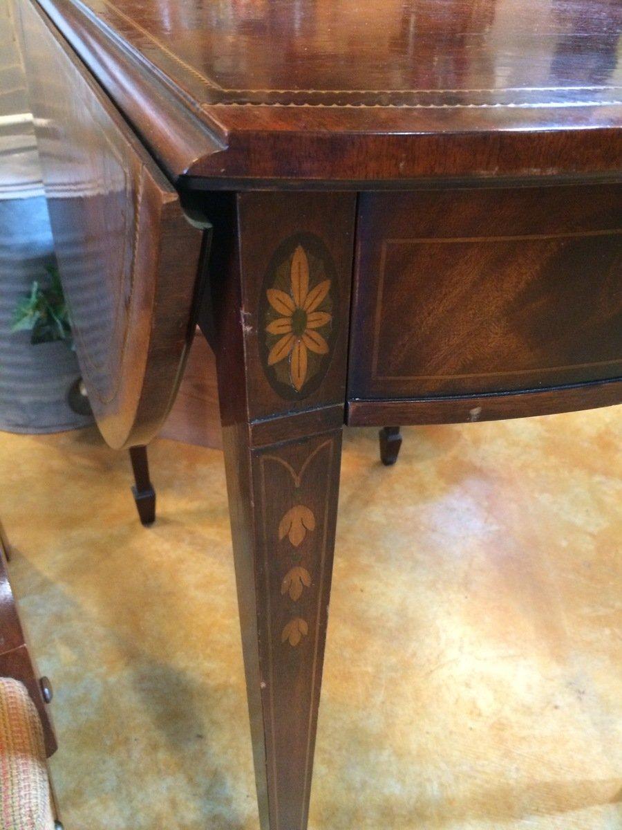 Vintage Weiman Drop Leaf Side Table My Antique Furniture