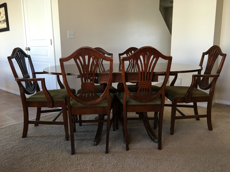 I Have A Lenoir Chair Company Drop Leaf Table With Six