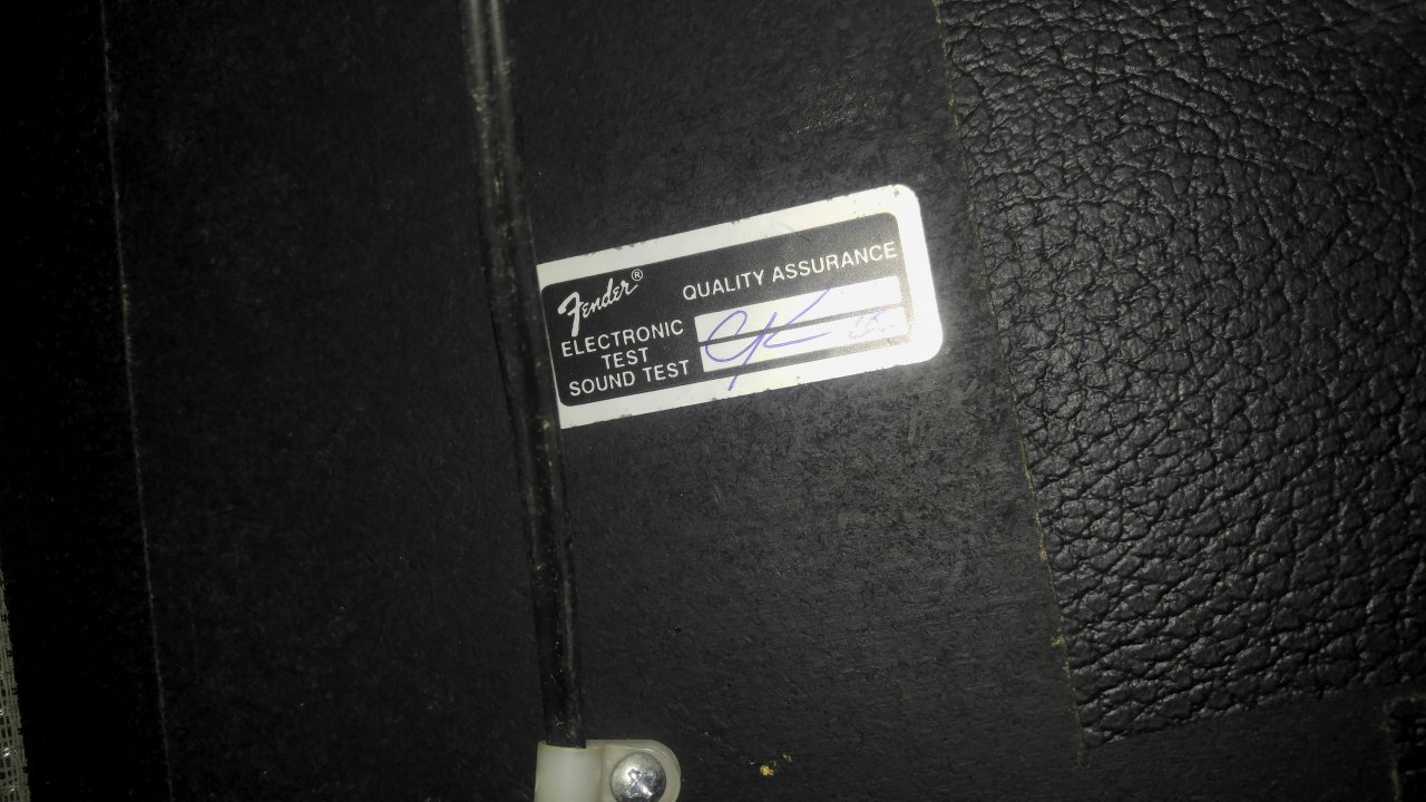 Ok So Here Is The Qc Sticker From My Fender Deville 410
