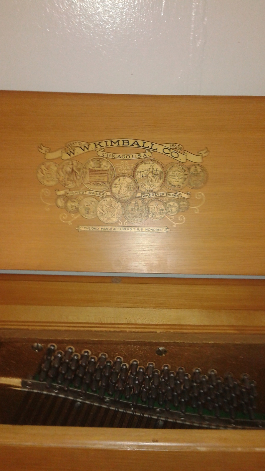 I Have An Upright Kimball Piano Serial Number 599186  It