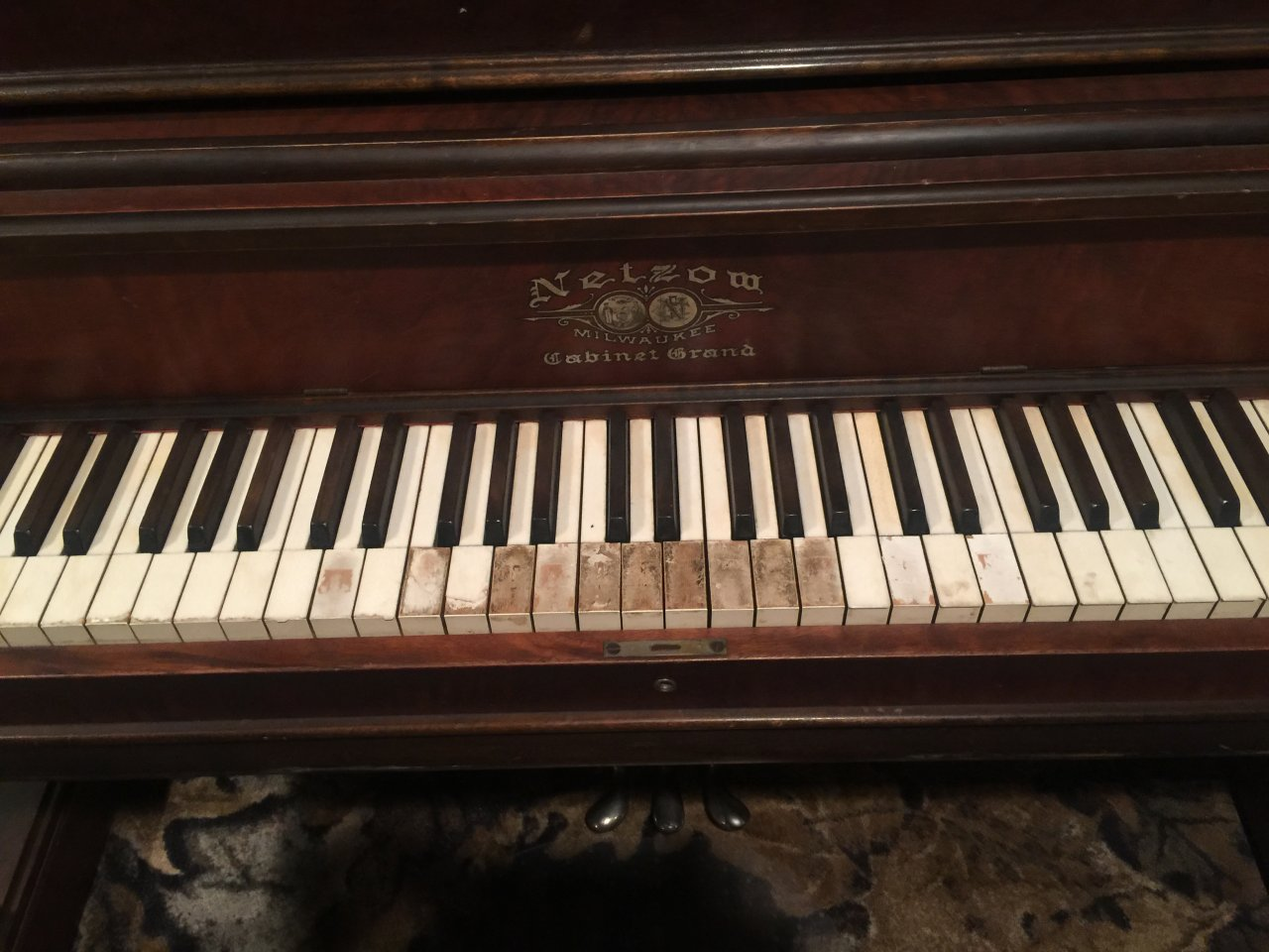 Netzow Cabinet Grand Piano My Husband And I Recently