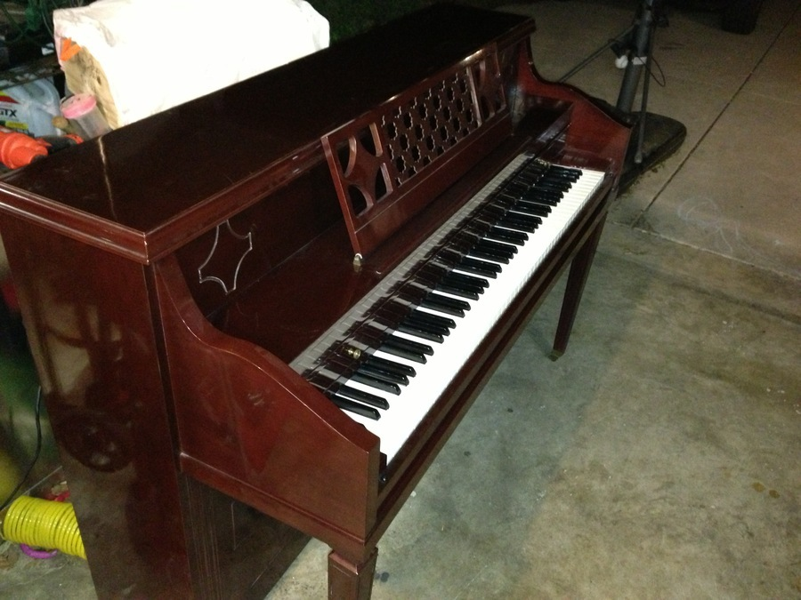Vose and sons piano serial number location