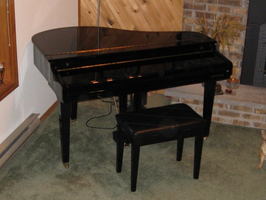 How much is my samick sxp 511 baby grand digital piano for How much space does a baby grand piano need