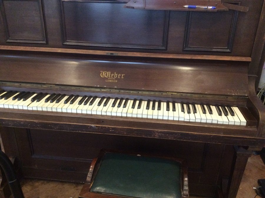 I have a weber london upright piano made by orchestrelle for How much space does a baby grand piano need