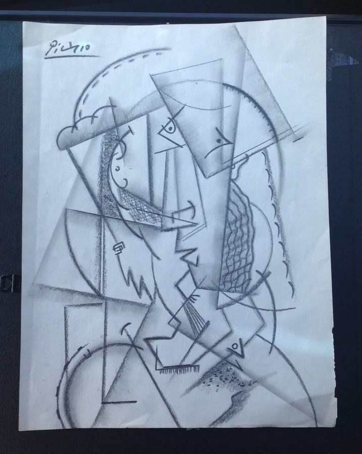 There is no date nor number only signature the paper size is 11 3 4 x 9 please let me know if it is fake or possibly a real picasso sketch