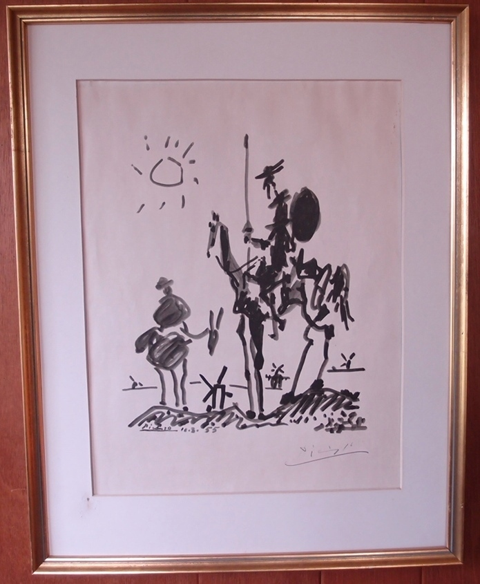 Pablo Picasso U0026 39 S Don Qiouxote Lithograph Signed By Hand In