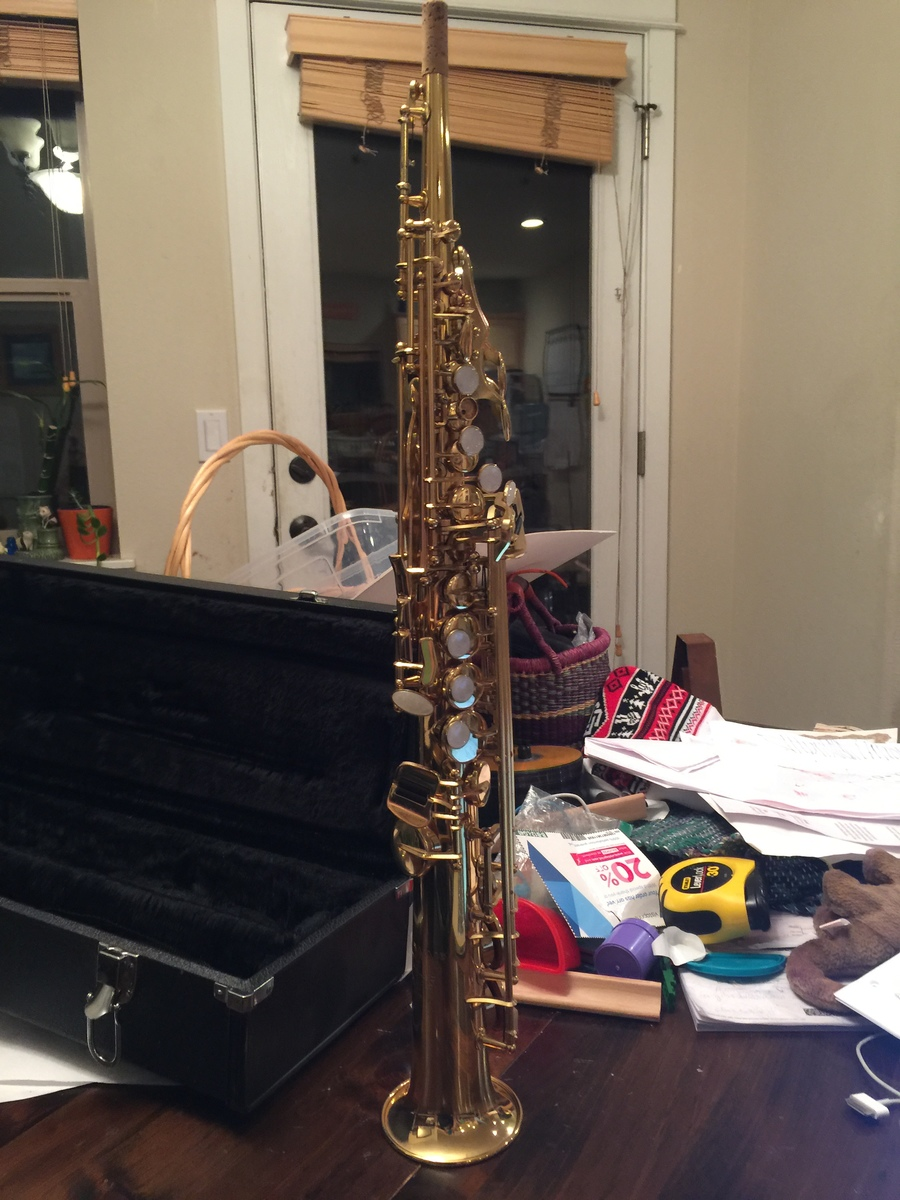 Conn 95M Soprano Sax  Barely Played So Virtually Brand New  Trying