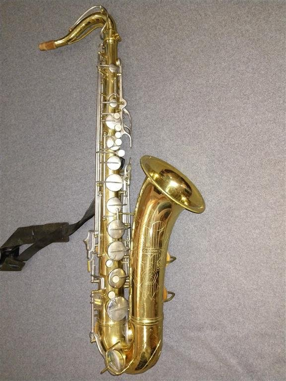 CG Conn Naked Lady Tenor Sax SN 10M Patent Applied For